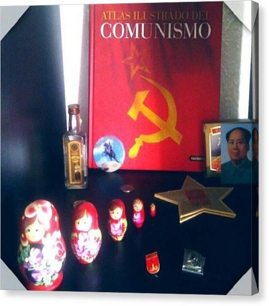 Vodka Canvas Print - ...y De Rojo by Lana Banana