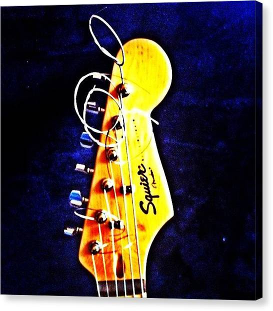 Bass Guitars Canvas Print - Ya Know I Can't Sing Without A by David Sabat