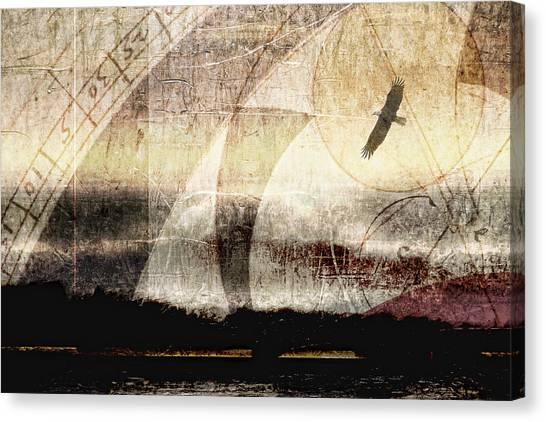 Golden Eagle Canvas Print - Yachats Eagle by Carol Leigh