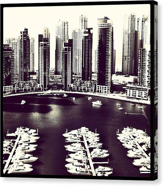 Yachts Canvas Print - Yacht Waterfront by George Saad