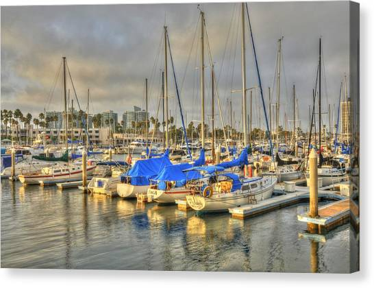 Yachts On A Lazy Afternoon Canvas Print