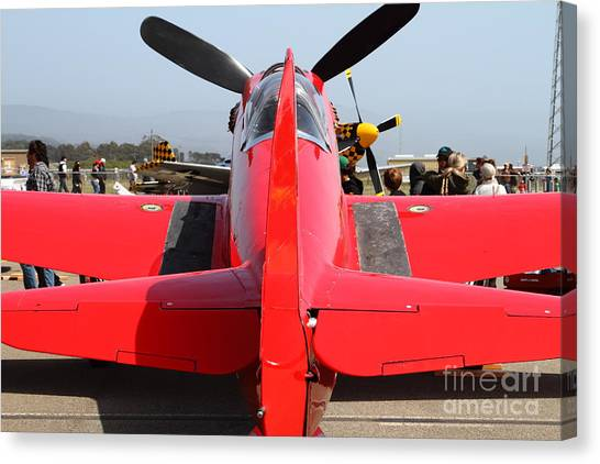 Yak 9u Airplane . 7d15802 Canvas Print by Wingsdomain Art and Photography