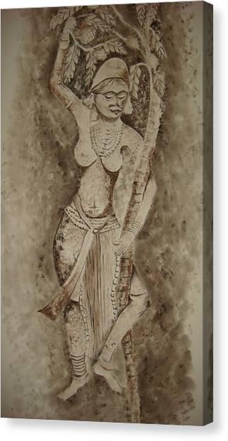 Mango Tree Canvas Print - Yakshi by Ashwini Tatkar