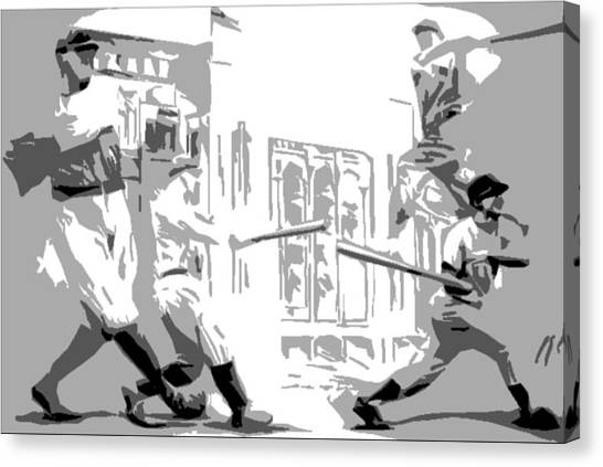 Yankee Greats Poster Canvas Print by Adam Barone