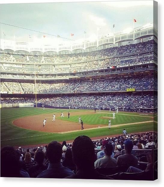 Yankee Stadium Canvas Print - Yankee Stadium by Mike Danielenko
