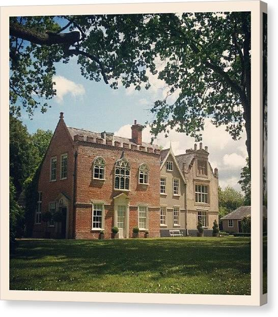Medieval Canvas Print - #yaxley, #hall, #country, #house by Rykan V
