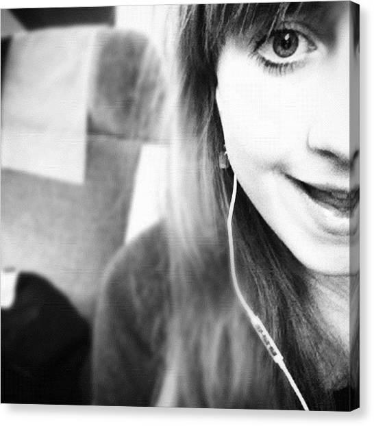 Swedish Canvas Print - Yeaaahh #me #on #train #girl #swedish by Nathalie Andersson