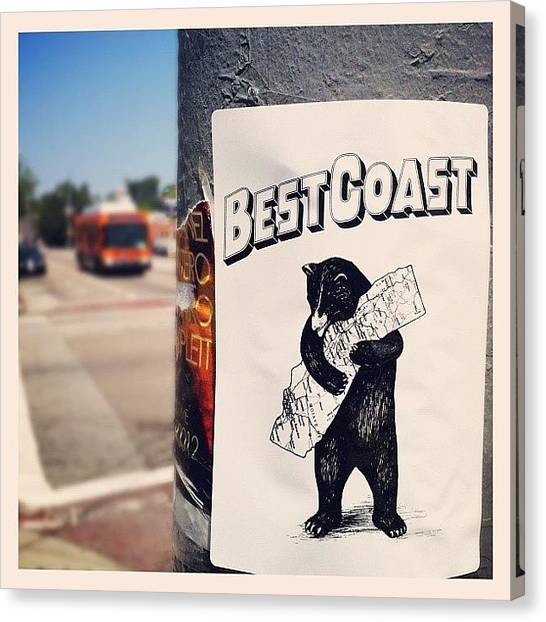 Bears Canvas Print - Yeah Yeah! #cali #westcoast #bestcoast by Andres Cruz