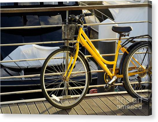 Jet Skis Canvas Print - Yellow Bicycle by Carlos Caetano