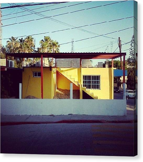 Shapes Canvas Print - #yellow #cabo #sanjose #architecture by Amanda Schoonover
