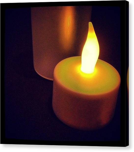 Flames Canvas Print - #yellow #candle #cool #burning #bright by Logan Mcpherson