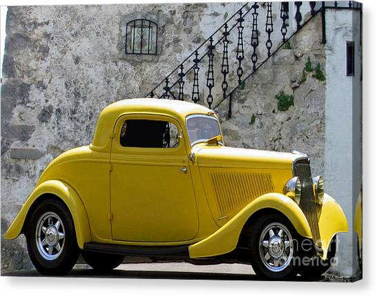 Yellow Coupe Hardtop Canvas Print