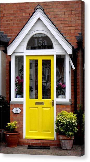 Yellow Door Canvas Print