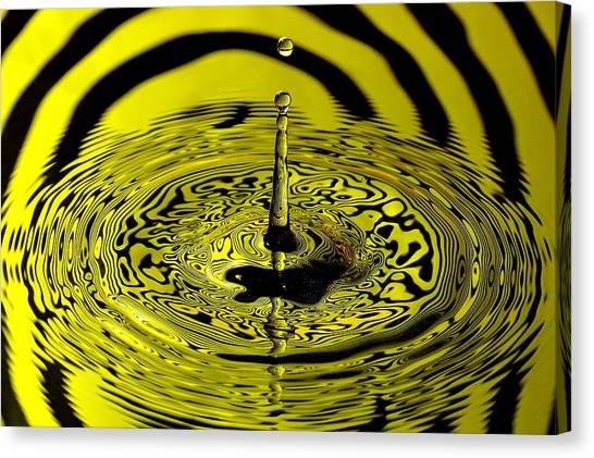 Gota Canvas Print - Yellow Drop by Carlos Nass
