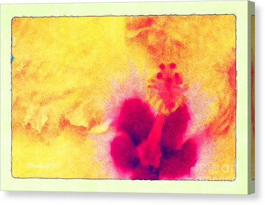 Yellow Hibiscus Flower Canvas Print