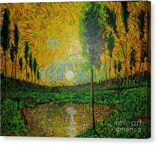 Yellow Pond Canvas Print