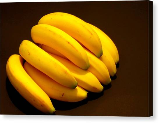 Yellow Ripe Bananas Canvas Print by Jose Lopez