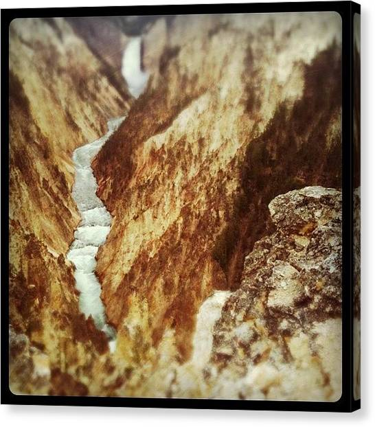 Yellowstone National Park Canvas Print - Yellow River by Florian Divi
