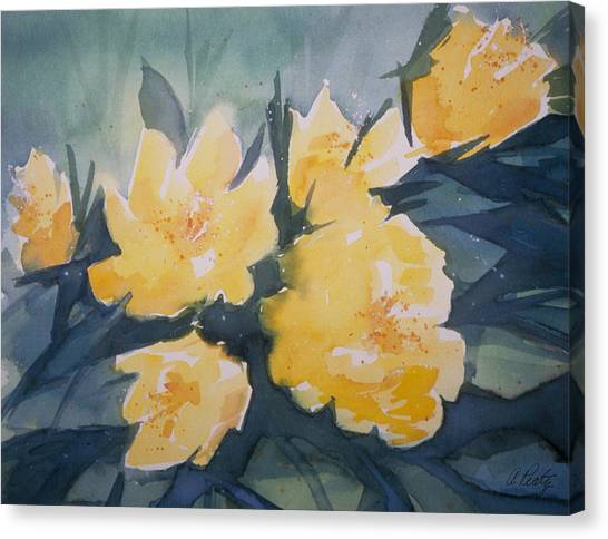 Yellow Roses Canvas Print