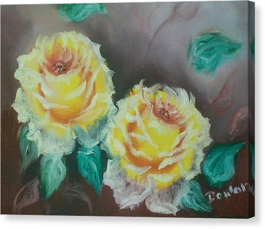 Yellow Roses Canvas Print by Raymond Doward
