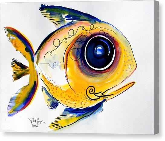 Yellow Study Fish Canvas Print