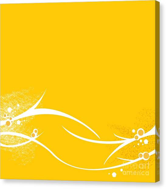 Yellow Twigs Canvas Print