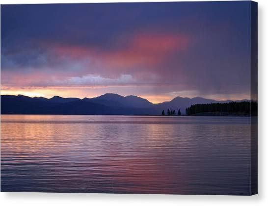 Yellowstone Lake Sunrise IIi Canvas Print