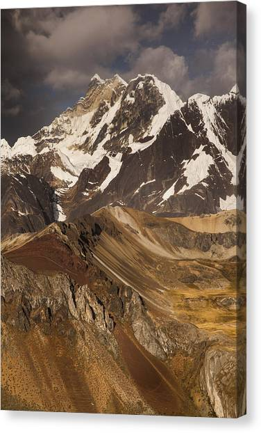Andes Mountains Canvas Print - Yerupaja Chico 6121m In Cordillera by Colin Monteath