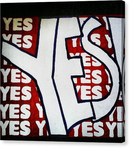 Wrestling Canvas Print - #yes #danielbryan #wwe by Shawn Jones