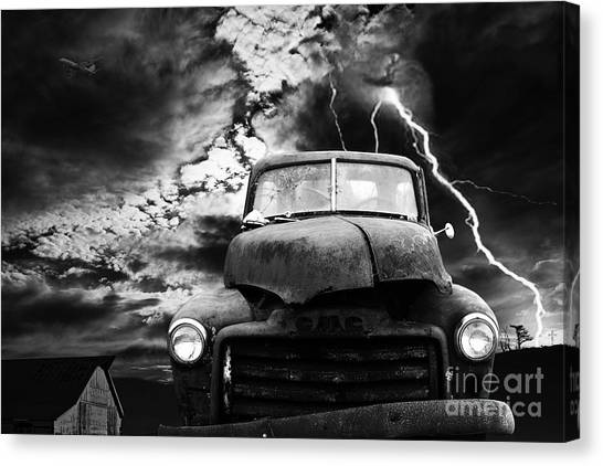 Dada Art Canvas Print - Yesterday Came Early . Tomorrow Is Almost Over . Bw by Wingsdomain Art and Photography