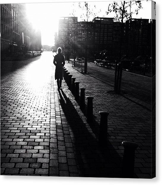 Humans Canvas Print - Yesterday. #sun #shadow #people by Robbert Ter Weijden