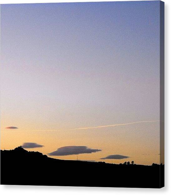 Outer Space Canvas Print - Yesterday's  #ufo  #clouds by Alexandra Cook