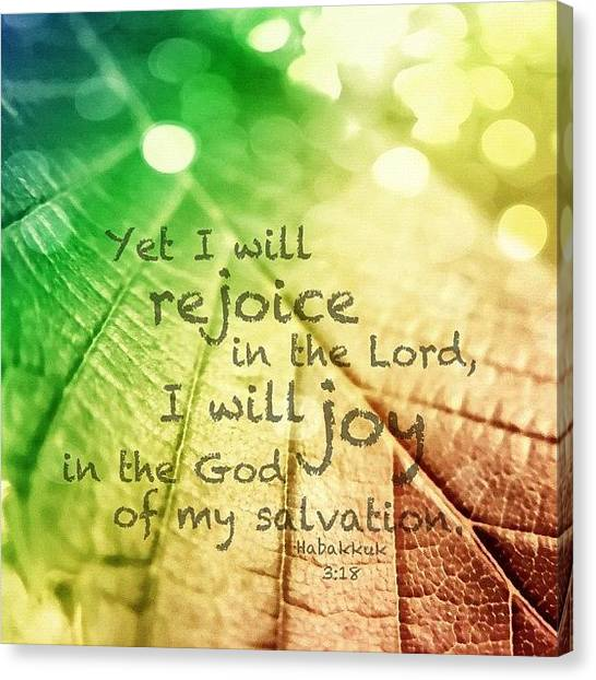 Rainbows Canvas Print - yet I Will Rejoice In The Lord, I by Traci Beeson