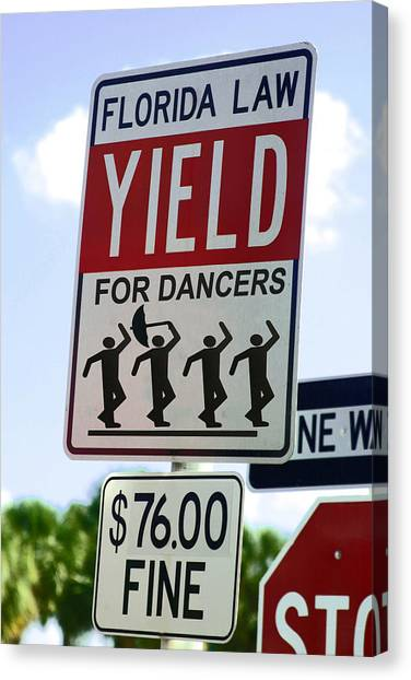 Yield For Dancers - 2 Canvas Print