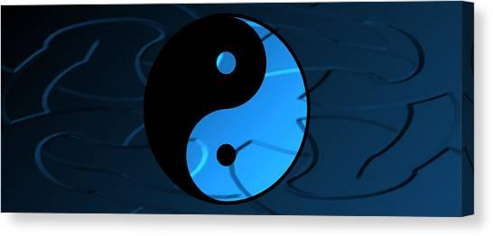 Yin And Yang Canvas Print by Daryl Macintyre