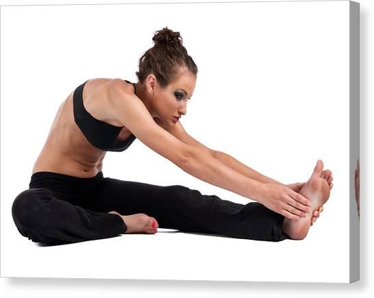 Yoga Head To Knee Canvas Print