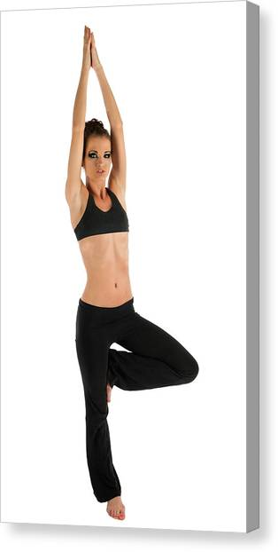 Yoga Pose Tree Canvas Print