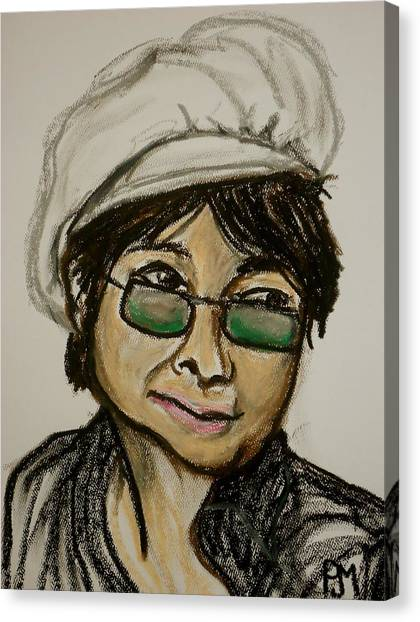 Yoko Ono Canvas Print - Yoko by Pete Maier
