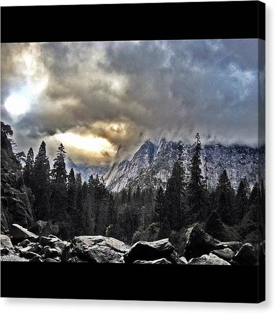 Red Rock Canvas Print - Yosemite Falls by Zachary C