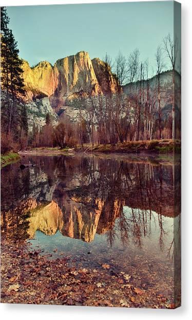 Yosemite Falls Canvas Print - Yosemite Reflection by Irene Y.