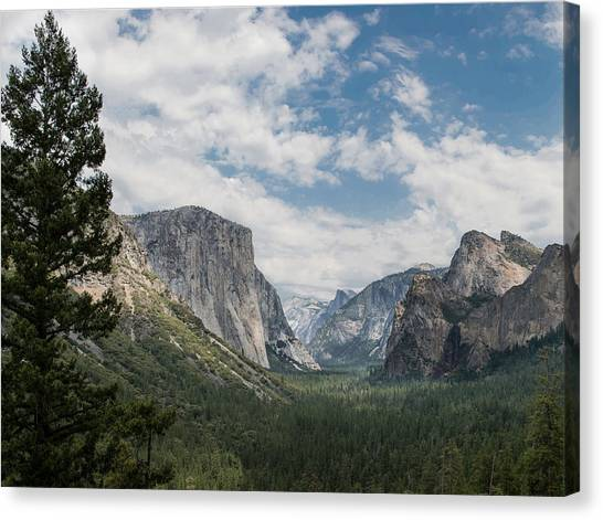 Yosemite Valley From Tunnel View At Yosemite Np Canvas Print