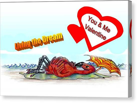 You And Me Valentine Canvas Print by Carol Allen Anfinsen