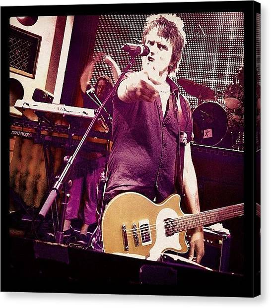 Guitars Canvas Print - You Are My Next Guitar! 🎸 by Roger Del Sol