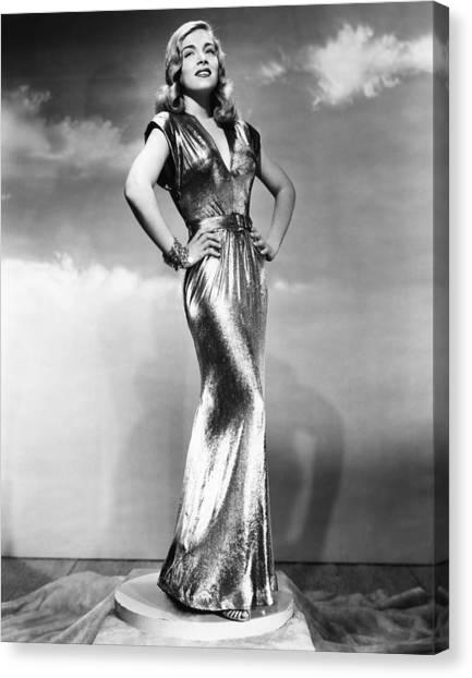 1945 Movies Canvas Print - You Came Along, Lizabeth Scott, 1945 by Everett