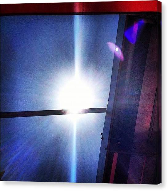 Venus Canvas Print - You Can See Venus In The Lens Flare In by Matthew Allard