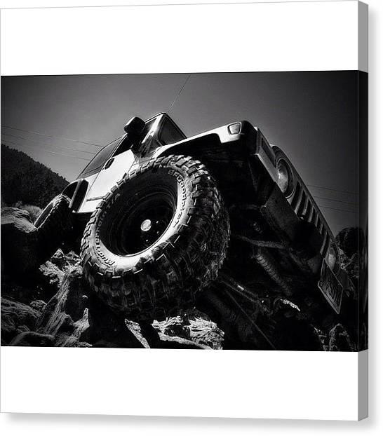 Jeep Canvas Print - You Da Man @rubicontaxi  Thanks #jeep by James Crawshaw