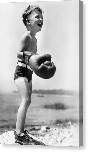 Young Boxer Canvas Print by Doris Day