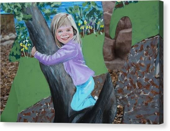 Young Girl In Summer Canvas Print