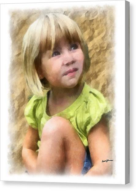 Youngest Daughter Canvas Print by Anthony Caruso