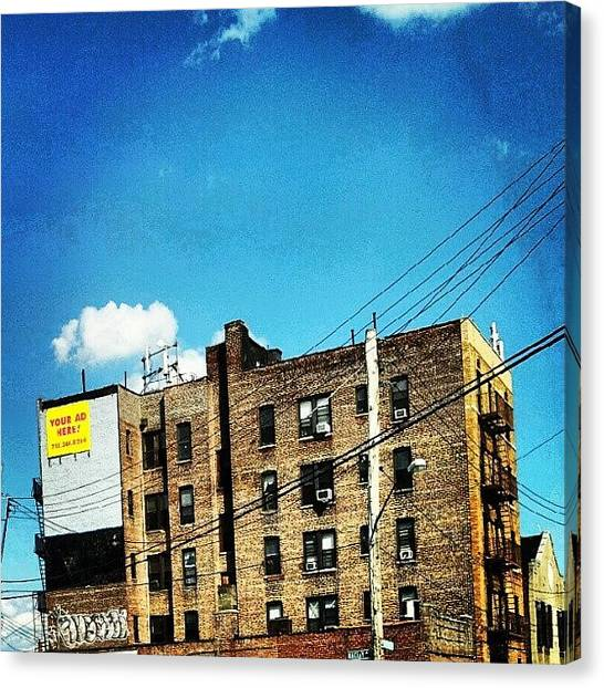 Installation Art Canvas Print - Your #ad Here. #bronx #nyc #nyc #ny by Radiofreebronx Rox